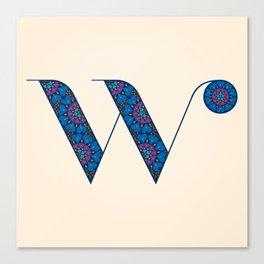 W - Amarilis Canvas Print