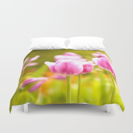 Joy Of Spring Flowers Duvet Cover