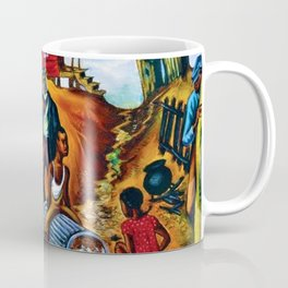"""African American Classical Masterpiece """"Study for the Results of Poor Housing"""" by Hale Woodruff Coffee Mug"""