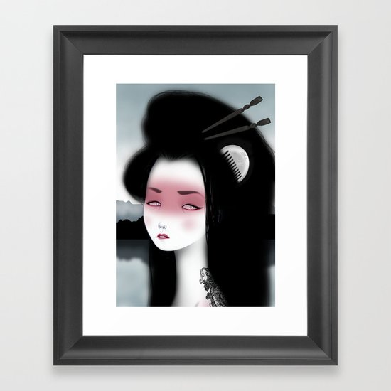 Little dragon Framed Art Print