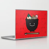 ramen Laptop & iPad Skins featuring Happy Ramen Bowl by Berenice Limon