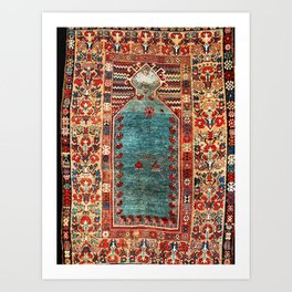 Kurdish East Anatolian Niche Rug Print Art Print