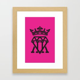King Crown (PINK) Framed Art Print