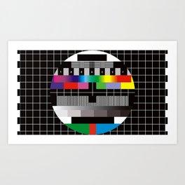 TV bars color test Art Print
