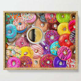 Donuts & Coffee Serving Tray