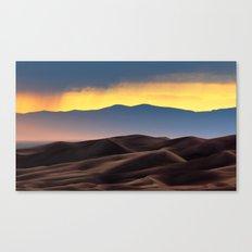 Colorado Sand Dunes Sunset. Canvas Print