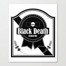 Black Death Ribbon Canvas Print