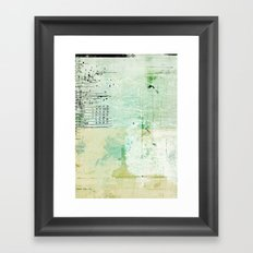 above sea level Framed Art Print
