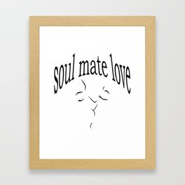 Soul mate love Framed Art Print