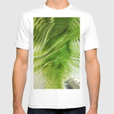 CABBAGE MEDIUM White Mens Fitted Tee
