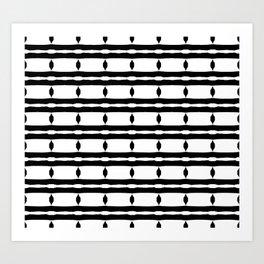 Black & White Pattern Art Print