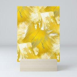 Golden Feathers Mini Art Print