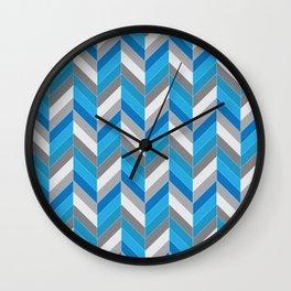 Harmaa ja sininen Wall Clock