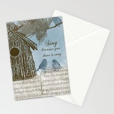 Bird Song Stationery Cards