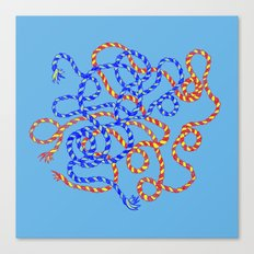 Blue/Red/Yellow Canvas Print
