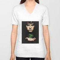 the lord of the rings V-neck T-shirts featuring Frodo - Lord of the Rings by Hilary Rodzik