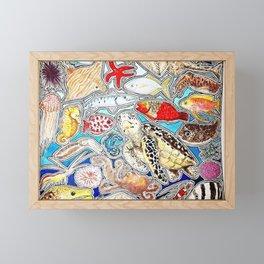 Marine life Framed Mini Art Print