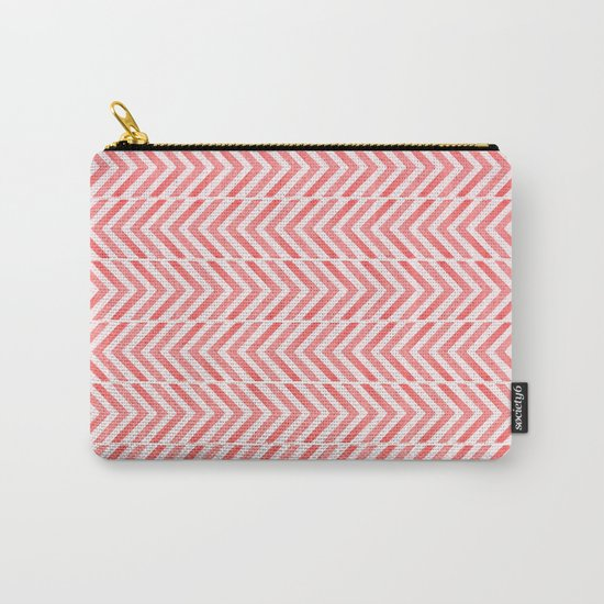 Red Geometric Watercolor Pattern Carry-All Pouch