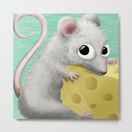 Cute Mouse Metal Print
