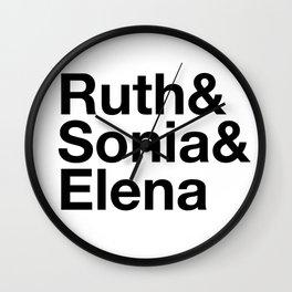 Ruth & Sonia & Elena Wall Clock