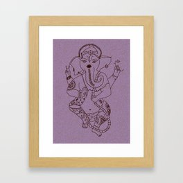 Ganesha Blush Framed Art Print