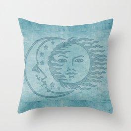 Sun Moon And Stars Batik Throw Pillow