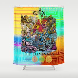 Mysticx & Magick: The Elemental Tribes of the Lost Continent - Art Cover Shower Curtain