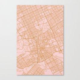 Riyadh map, Saudi Arabia Canvas Print