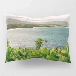 Kilauea Lookout Kauai Hawaii | Tropical Beach Nature Ocean Coastal Travel Photography Print Pillow Sham