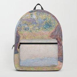 Claude Monet - Grainstacks, in Bright Sunlight.jpg Backpack