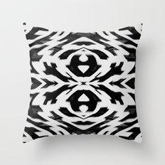 Arrow Tribe Black & White Throw Pillow