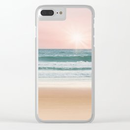 Sand, Sea, and Sky Clear iPhone Case