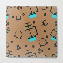 pattern for coffee lovers Metal Print