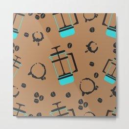 pattern for coffee lovers Metal Print