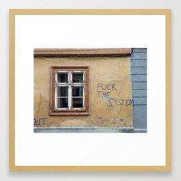 F THE SYSTEM Framed Art Print