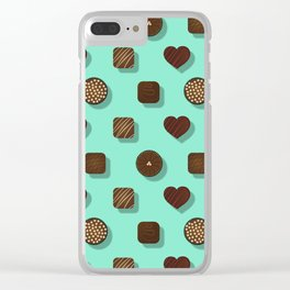 Box of Chocolates Pattern Clear iPhone Case