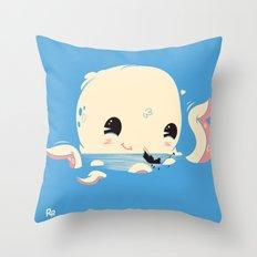Adorable Octopus Battle (Bold) Throw Pillow