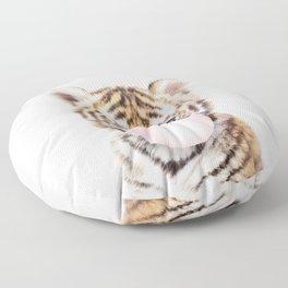 Bubble Gum Tiger Cub Floor Pillow