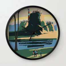 Thunder Bluff Classic Rail Poster Wall Clock
