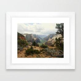 Above Zion Canyon Framed Art Print
