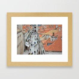 Bustle of Dubrovnik Framed Art Print