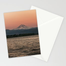 Mt. Hood Moonrise at Sunset Stationery Cards