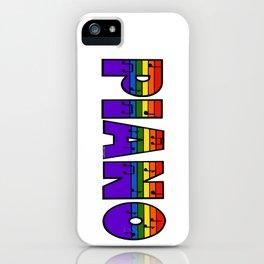 Rainbow Piano iPhone Case