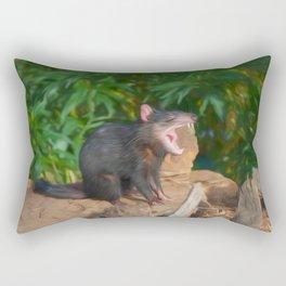 Funny Devil (digital painting) Rectangular Pillow