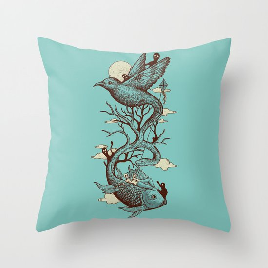 Escape from Reality Throw Pillow