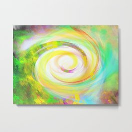 Spiral Eye Funny Wow Metal Print