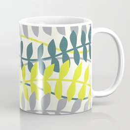 seagrass pattern - teal and lime Coffee Mug