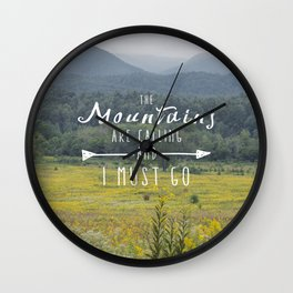 Mountains are Calling - The Smokys Wall Clock