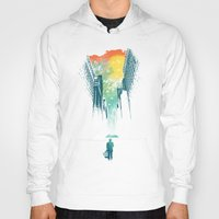 society6 Hoodies featuring I Want My Blue Sky by Picomodi