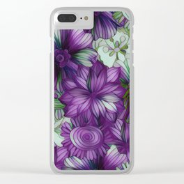 Violets and Greens Clear iPhone Case